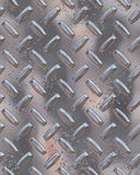Glanzend chroom diamondplate Stock Afbeeldingen