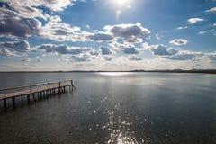Glanzend DALINOR-Meer in Binnenmongolië royalty-vrije stock foto's