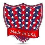Glanzend die etiket in de V.S. wordt gemaakt. Royalty-vrije Stock Foto