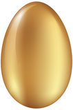 Glanzend Gouden Ei Stock Afbeelding