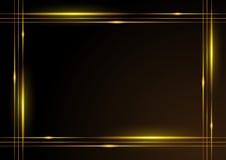 Glanzend gouden frame Stock Fotografie