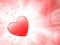 Glanzend hart Royalty-vrije Stock Foto's