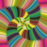 Glanzend kleurrijk spiraalvormig fractal ontwerp Royalty-vrije Stock Afbeeldingen