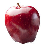 Glanzend Rood Geïsoleerd Apple Stock Foto