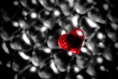 Glanzend rood hart Stock Afbeeldingen