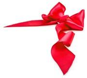 Glanzend rood satijnlint Royalty-vrije Stock Foto's