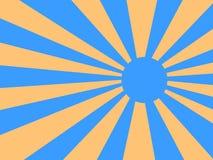 Glanzend Sun Ray Beam Stock Afbeelding