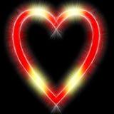 Glanzend symbool in de vorm van hart Royalty-vrije Stock Afbeelding