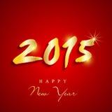Glanzend tekstontwerp voor Gelukkige Nieuwjaar 2015 viering Stock Foto