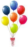 Glanzend trillend ballonsboeket royalty-vrije illustratie