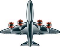 Glanzend vliegtuig Royalty-vrije Stock Afbeelding