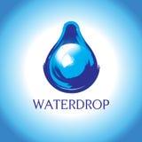 Glanzend waterdropontwerp Stock Afbeelding