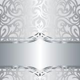 Glanzend zilveren bloemen van de vakantie uitstekend uitnodiging ontwerp als achtergrond Stock Fotografie
