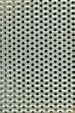 Glanzend zilveren metaalpatroon met rond gat Royalty-vrije Stock Foto's