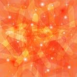 Glanzende Abstracte Oranje Achtergrond Royalty-vrije Stock Afbeeldingen