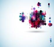 Glanzende abstracte paginalay-out voor Uw presentatie. Stock Foto