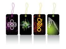 Glanzende abstracte stickers Royalty-vrije Stock Afbeeldingen