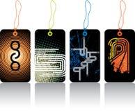 Glanzende abstracte stickers Stock Afbeelding