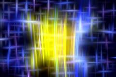 Glanzende achtergrond in blauwe gele tinten, abstracte achtergrond, fantasie royalty-vrije illustratie