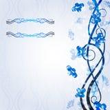 Glanzende achtergrond blauwe koele vormbanner Royalty-vrije Stock Afbeeldingen