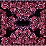 Glanzende achtergrond met glanzend abstract roze installatiespatroon Stock Foto's