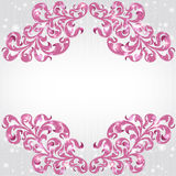 Glanzende achtergrond met roze bloemenpatroon Royalty-vrije Stock Afbeelding