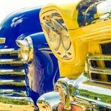 Glanzende auto's op een rij Royalty-vrije Stock Afbeeldingen