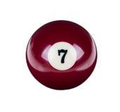 Glanzende bal voor biljart Royalty-vrije Stock Fotografie