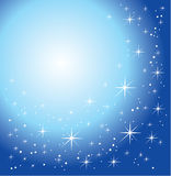 Glanzende blauwe achtergrond Royalty-vrije Stock Afbeeldingen