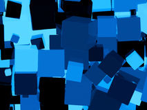 Glanzende blauwe kubusachtergrond Royalty-vrije Stock Afbeelding