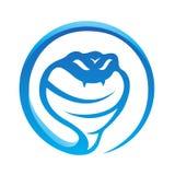 Glanzende blauwe slang Stock Fotografie