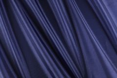 Glanzende blauwe stof Royalty-vrije Stock Foto's