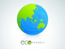 Glanzende bol voor Ecologieconcept Stock Afbeeldingen