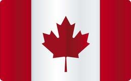 Glanzende Canada vlag Royalty-vrije Stock Afbeeldingen