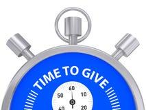 Glanzende chronometer met Tijd om woorden te geven Stock Foto's