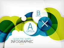 Glanzende de informatieachtergrond van de cirkel geometrische vorm Royalty-vrije Stock Foto's