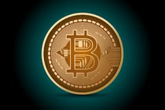 Glanzende de scène van de bedrijfs bitcoinvorm concepten Stock Foto's