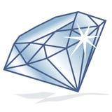 Glanzende diamant Stock Fotografie