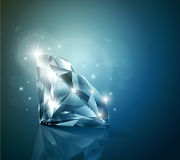 Glanzende diamantachtergrond Stock Afbeeldingen