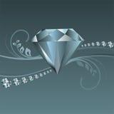 Glanzende diamantvector Royalty-vrije Stock Foto's