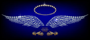 Glanzende diamantvleugels Royalty-vrije Stock Foto