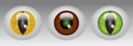 Glanzende dierlijke oogappels Royalty-vrije Illustratie