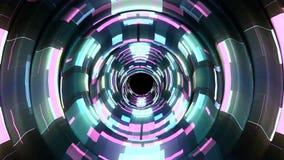 Glanzende digitale golvenimpuls in cyberspace de animatie van van de achtergrond motiegrafiek de stijl koele aardig nieuwe kwalit