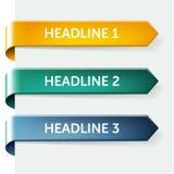 Glanzende document markeringen - de elementen van het Webontwerp Royalty-vrije Stock Afbeeldingen