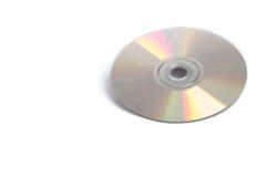 Glanzende DVD op Wit Royalty-vrije Stock Foto's