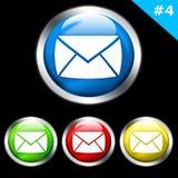 Glanzende e-mailknopen Royalty-vrije Stock Afbeeldingen