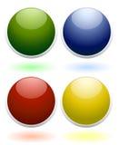 Glanzende gekleurde pictogrammen Royalty-vrije Stock Foto