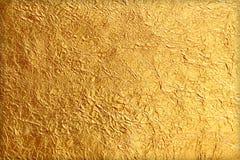 Glanzende gele blad gouden folie Royalty-vrije Stock Foto