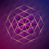 Glanzende geometrische achtergrond stock illustratie
