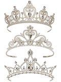 Glanzende Geplaatste Tiara's royalty-vrije illustratie
